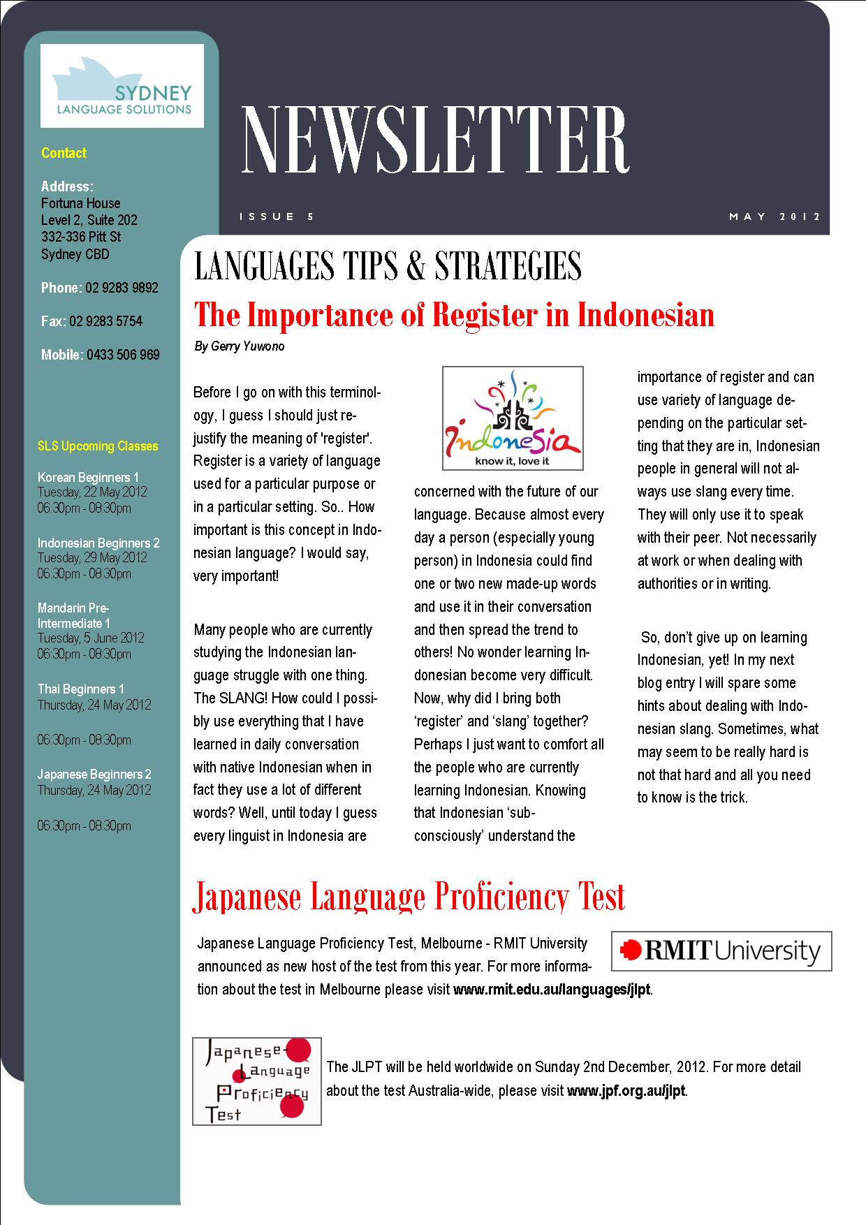 Language Newsletter